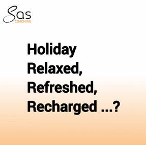 De vakantie is bijna voorbij, ben je lekker uitgerust en opgeladen?