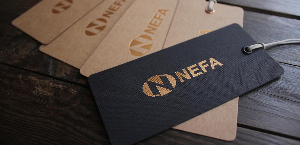 Nefa labels for branding