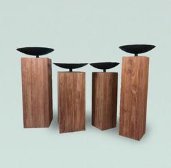 seken Pedestal With metal bowl