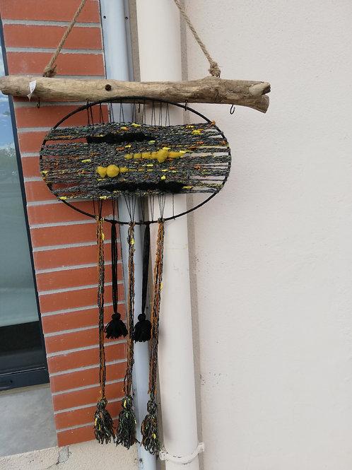 suspension laine tissée