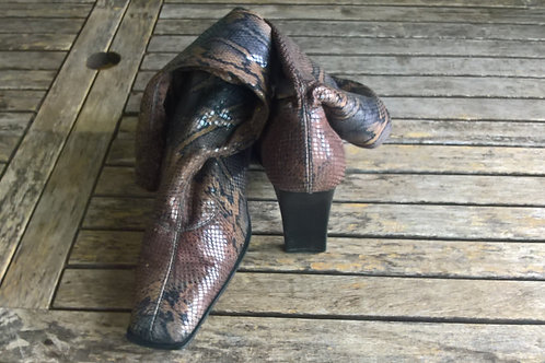 Bottes imitation serpent