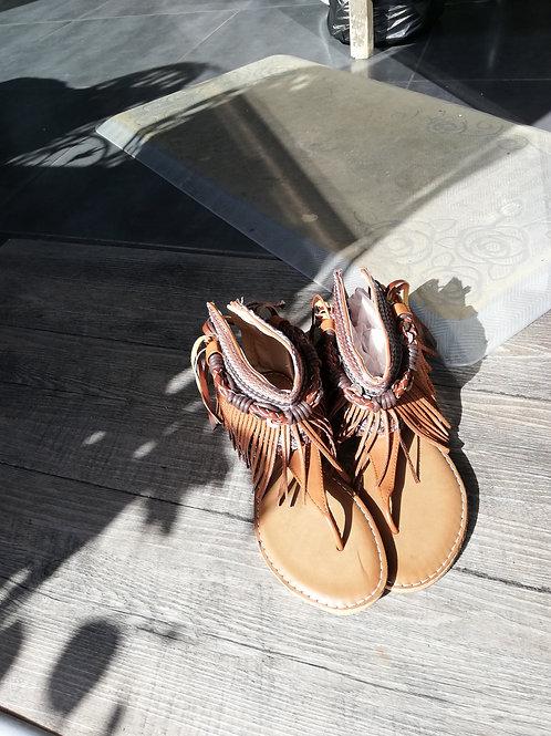 Sandales cuir T 37