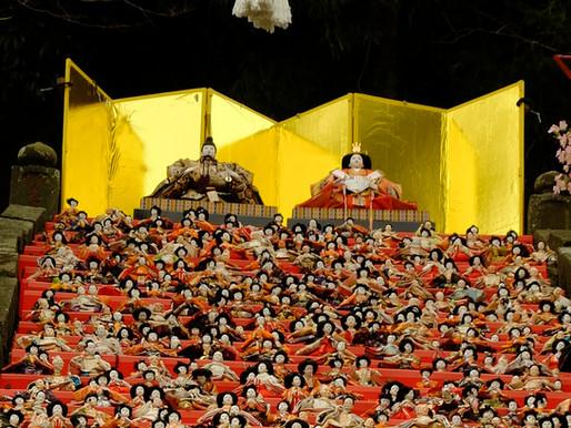 千葉勝浦女兒節祭典 ,由3萬個人形娃娃妝點而成的壯麗擺設