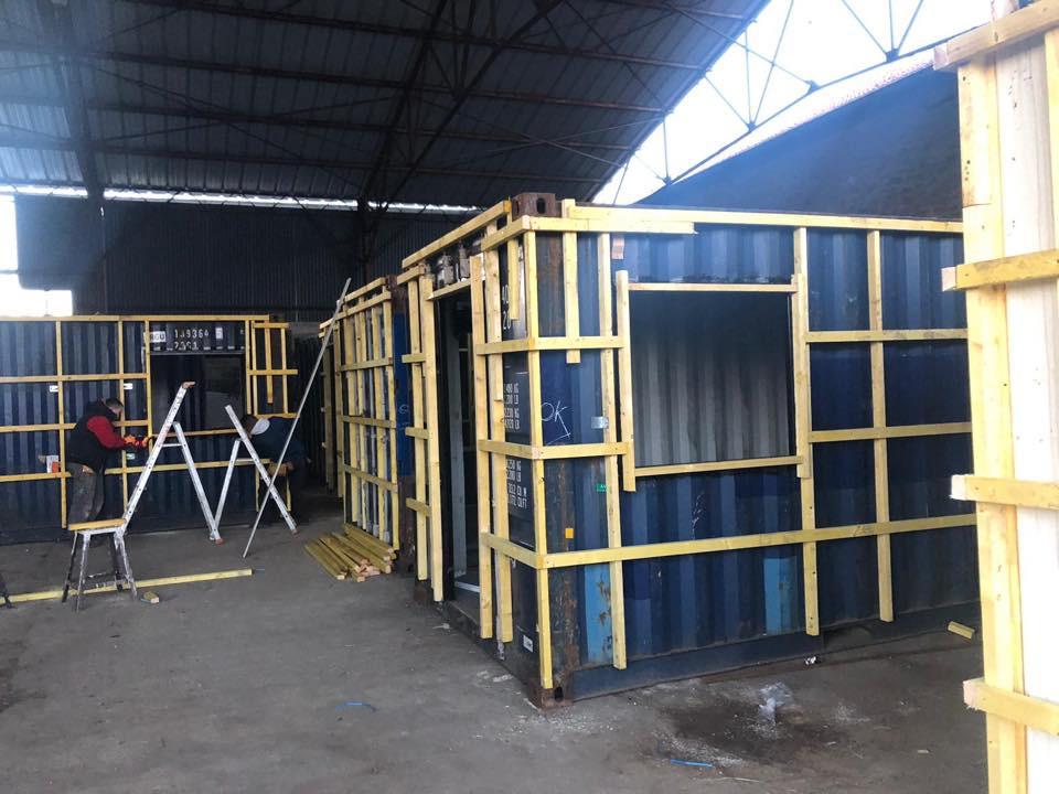 Transformation du container dans notre atelier