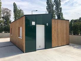 container aménagé pour logement d'urgence