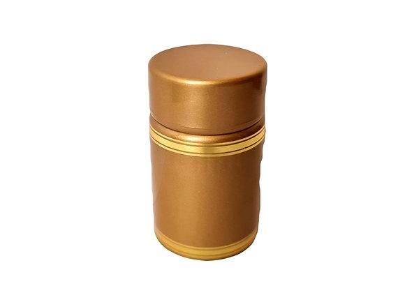 Plastmasas korķis ar dozatoru un vāciņu (zelta). (pudelei Guala)