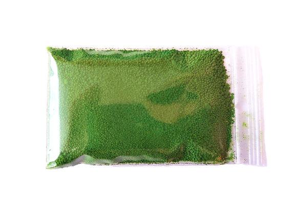 Zaļa pulverveida pārtikas krāsviela