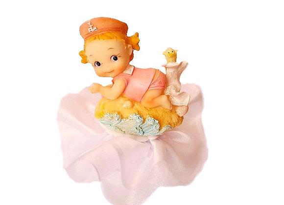 Dekors meitenīšu kristību kūkai