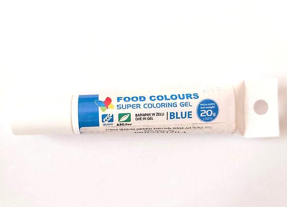 Zila gēla pārtikas krāsviela