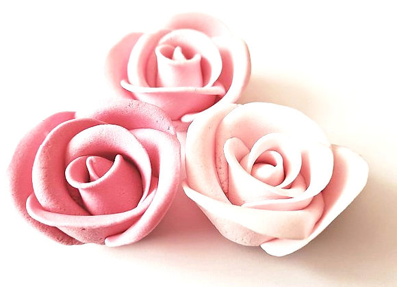 Rozes rozā trīstoņu lielās
