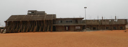Tribunes Football en construction