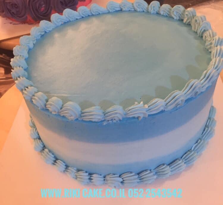 עוגת קרם תכלת