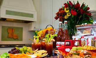 Side view of the items offered on the store page. Bloody Mary Mix, Crackers, and Rice