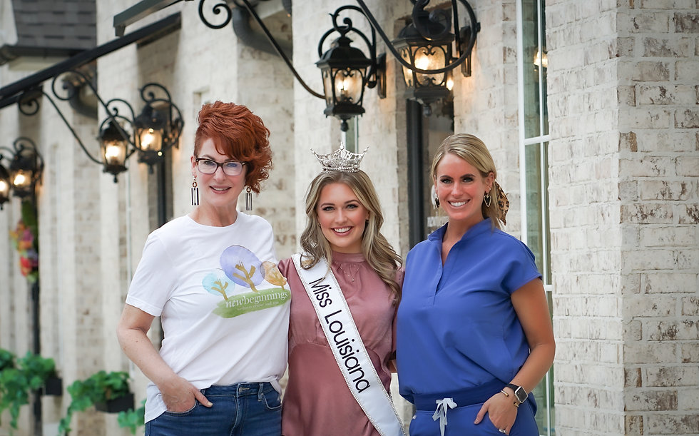 Miss Louisiana with Emery and Lucy