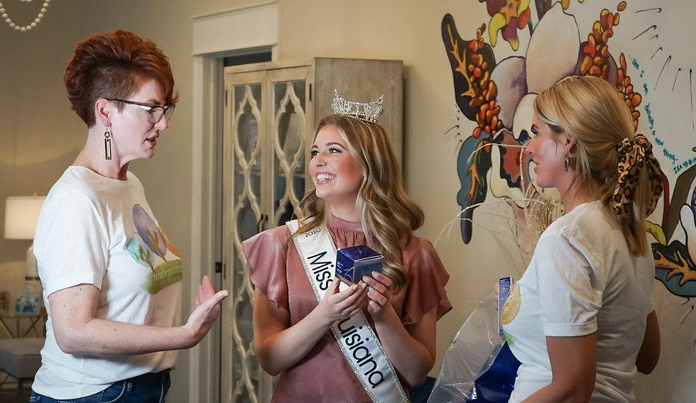 Miss Louisiana Receiving ZO Skin Care