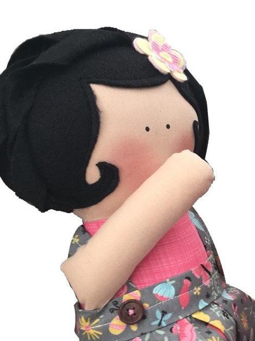 Bianca- clássica boneca de pano Mimo