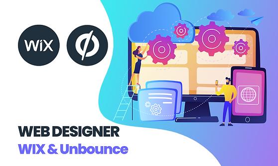 site internet wix unbounce webdesign webdesigner expert devis
