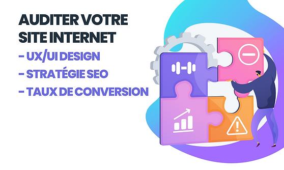 audit site internet stratégie seo taux de conversion uxui design