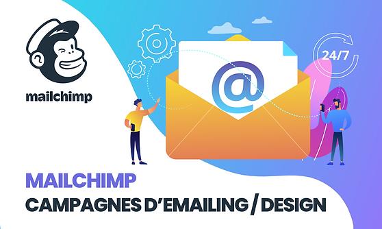 Expert Mailchimp design email campagne emailing newsletter freelance