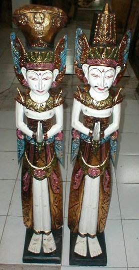 Legong Dancer wood carving made in Bali