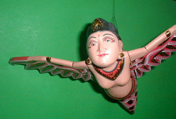 Dewi Rice Goddess Flying Hanging Lady Wood Large or Small