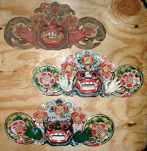 Boma hindu mask for door made in Bali