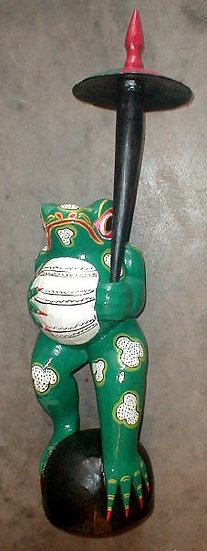 Bali Frog wood carving