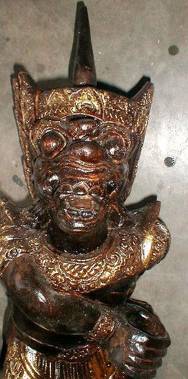 Hanaman wood statue hand carved in Bali Indonesia