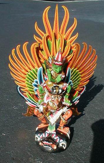Garuda and Vishnu wood statue from Bali
