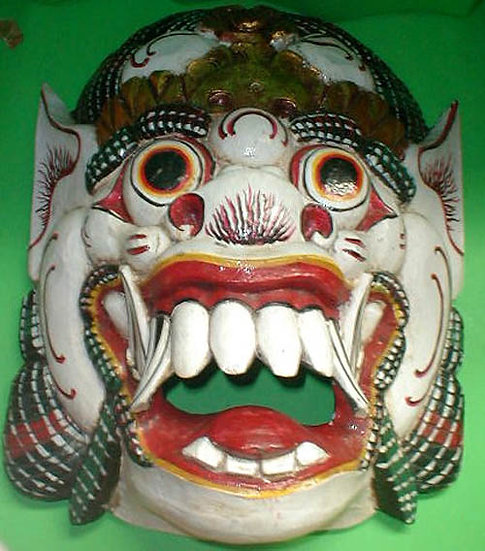 Bali Hindu Mask wood carving