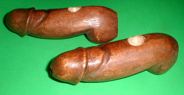 "Penis Phallic Pipe 6-7"" BROWN or BLACK comes with Bone-us"