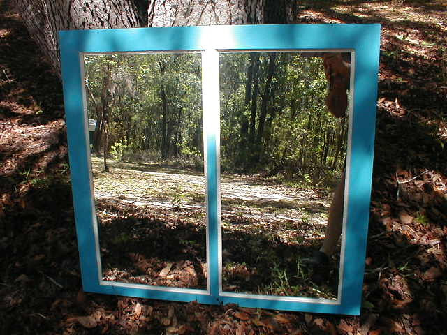 Window Mirror Florida Cracker House Antique