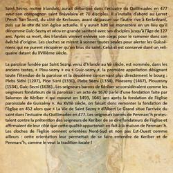 La création de la paroisse St-Sezny