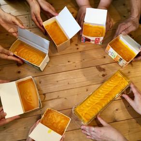 ありがとうございました!『オレンジカロテン&ココナッツシュガーの石けん』手作り石けんワークショップ