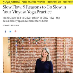 『ヨガもサステイナブルでないと』米国版Yoga Journal  Cyndi Lee先生の記事