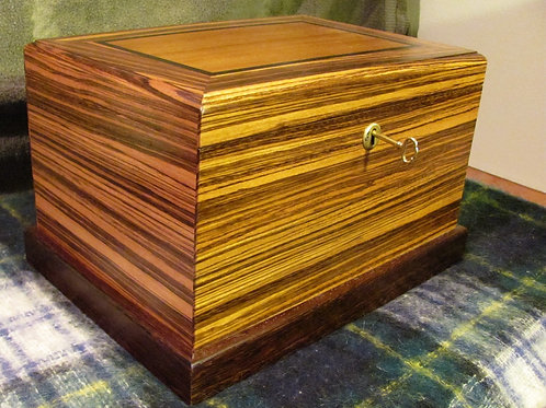 Zebra Wood Cigar Humidor