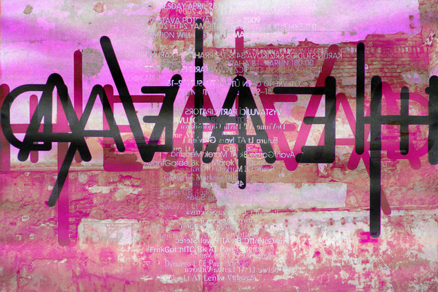 PRAGUE  105 W x 70 H cm  lambda print/dibond/acrylic Limited edition (3+1)   @2018 / Typography / lin2  From the series;  DECONSTRUCTED URBAN POSTERS