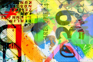 BERLIN  105 W x 70 H cm  lambda print/dibond/acrylic Limited edition (3+1)   @2018 / Typography / s11  From the series;  DECONSTRUCTED URBAN POSTERS