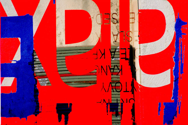 PRAGUE  105 W x 70 H cm  lambda print/dibond/acrylic Limited edition (3+1)   @2018 / Typography / e4  From the series;  DECONSTRUCTED URBAN POSTERS