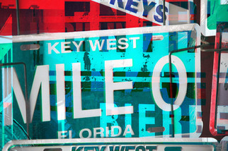 KEY WEST / KEY WEST  105 W x 70 H cm  lambda print/dibond/acrylic Limited edition (3+1)   @2018 / Typography / b6  From the series;  DECONSTRUCTED URBAN POSTERS