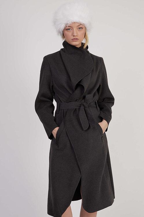 מעיל עליונית דגם elody - אפור כהה