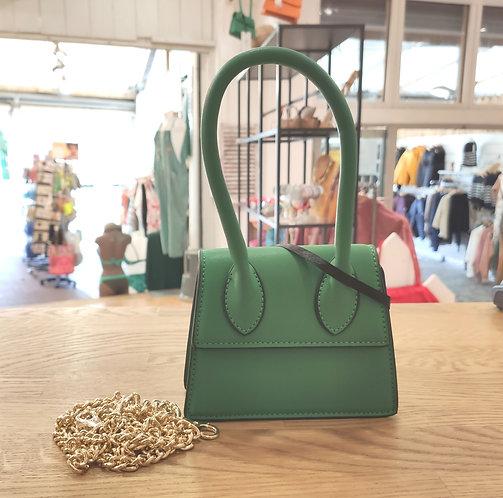 Mini sac à main vert