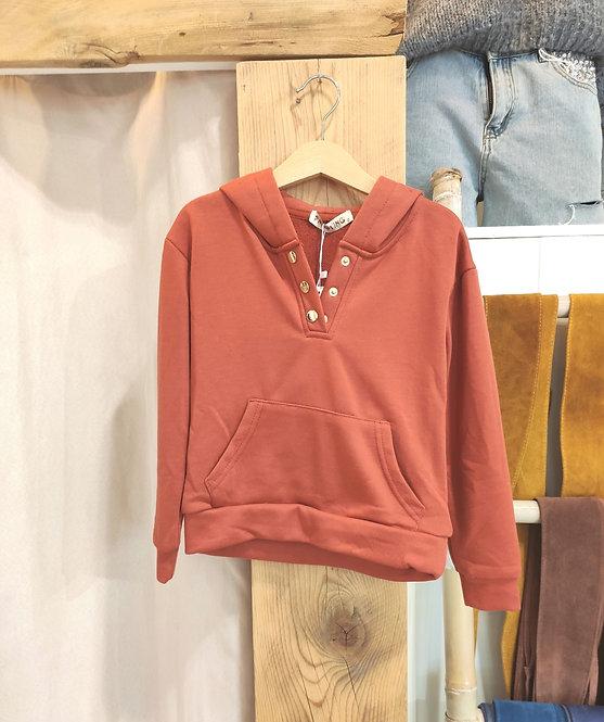 Sweatshirt à capuche enfant orange