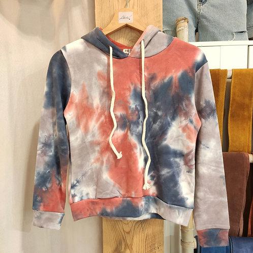 Sweatshirt à capuche tie ans dye enfant