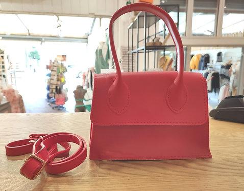 Mini sac à main rouge