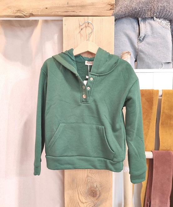 Sweatshirt à capuche enfant vert