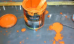 House of Kolor Neon Orange Paint mess