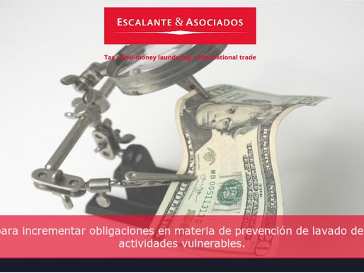 Se presenta iniciativa para incrementar obligaciones en materia de prevención de lavado de dinero...