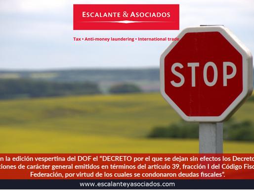 """El 20 de mayo de 2019 se publicó en la edición vespertina del DOF el """"Decreto""""."""