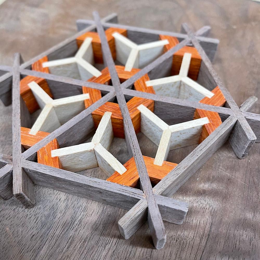 Kumiko Japanese wood lattice art by Adam Bergeron